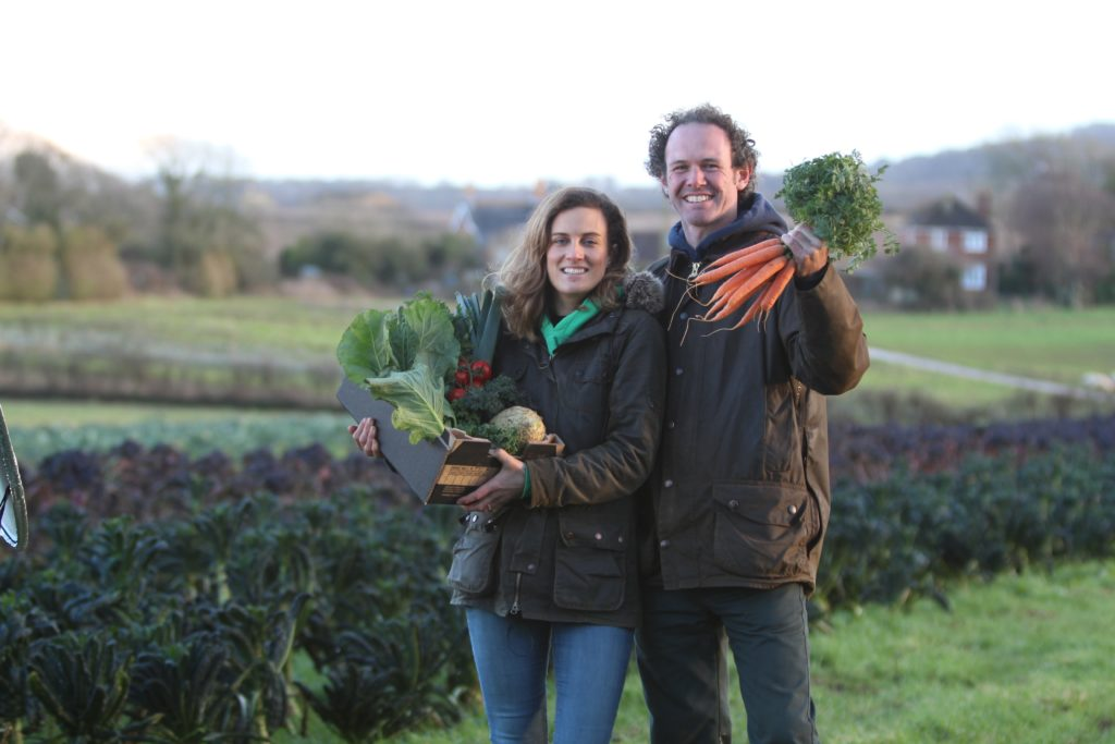 husband and wife farmers from Living Larder Isle of Wight